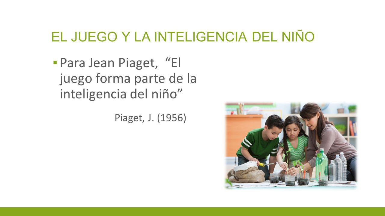EL JUEGO Y LA INTELIGENCIA DEL NIÑO