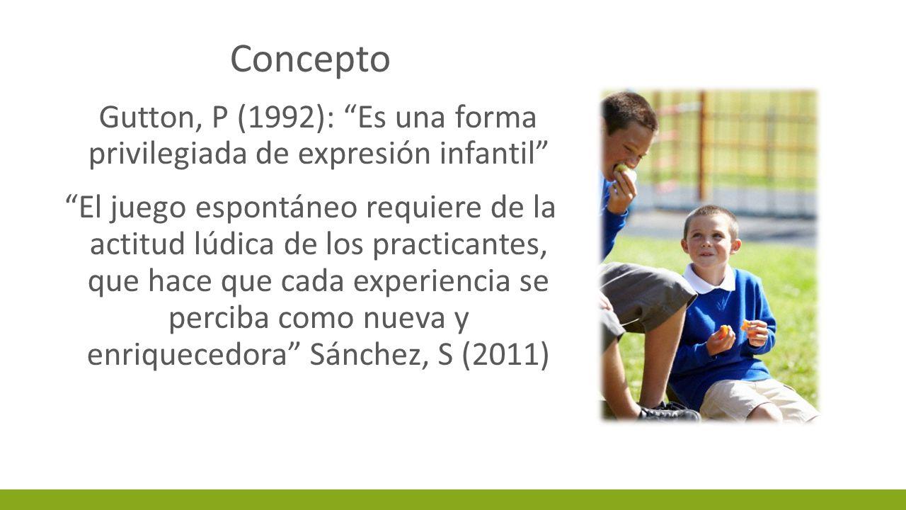 Gutton, P (1992): Es una forma privilegiada de expresión infantil