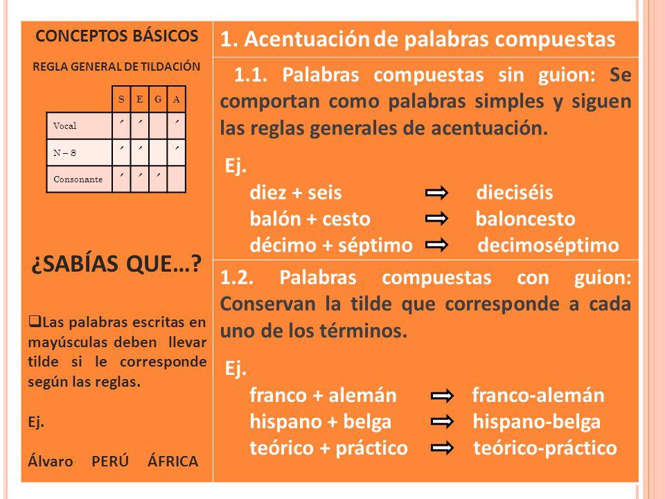 REGLA GENERAL DE TILDACIÓN