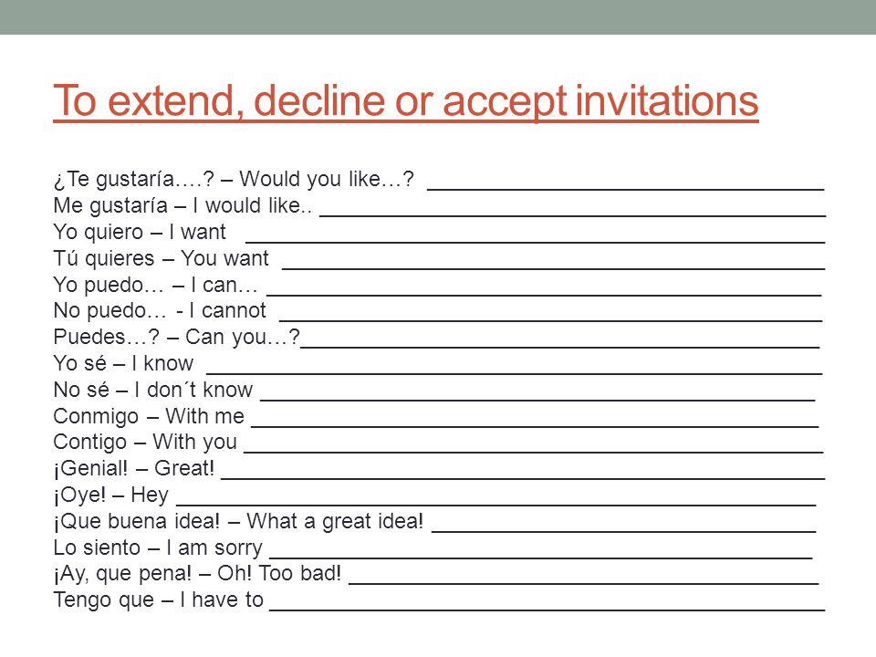 To extend, decline or accept invitations