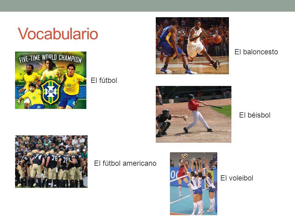 Vocabulario El baloncesto El fútbol El béisbol El fútbol americano