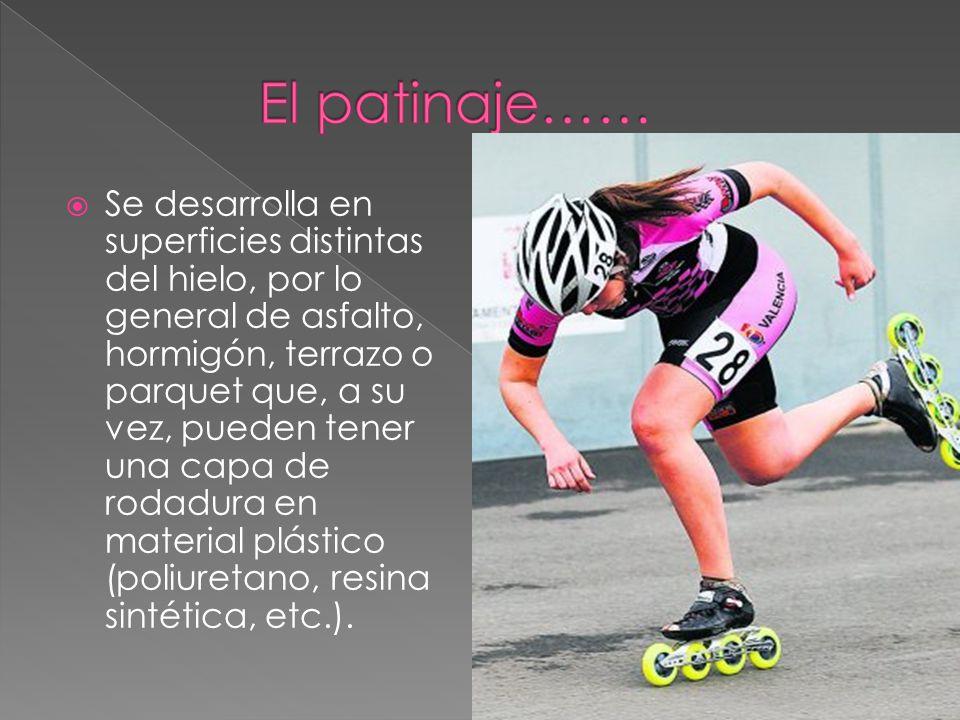 El patinaje……