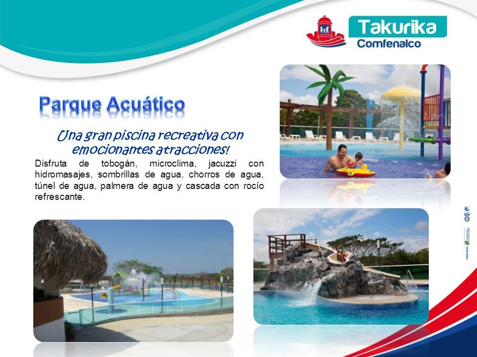 Una gran piscina recreativa con emocionantes atracciones!