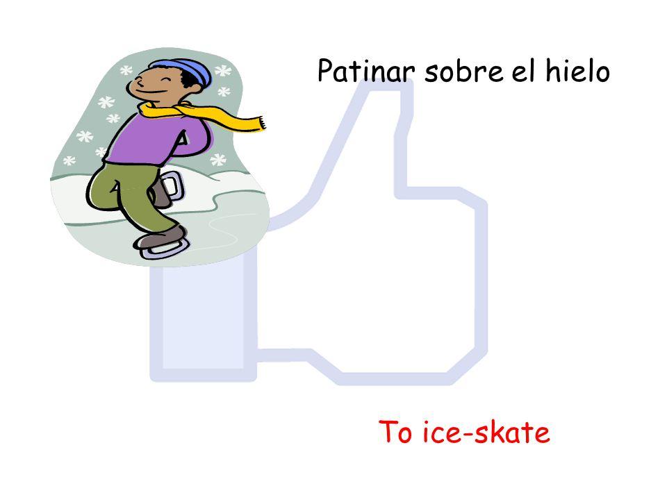 Patinar sobre el hielo To ice-skate