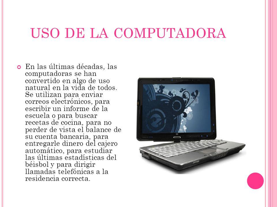 uso de la computadora