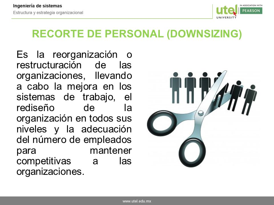 RECORTE DE PERSONAL (DOWNSIZING)