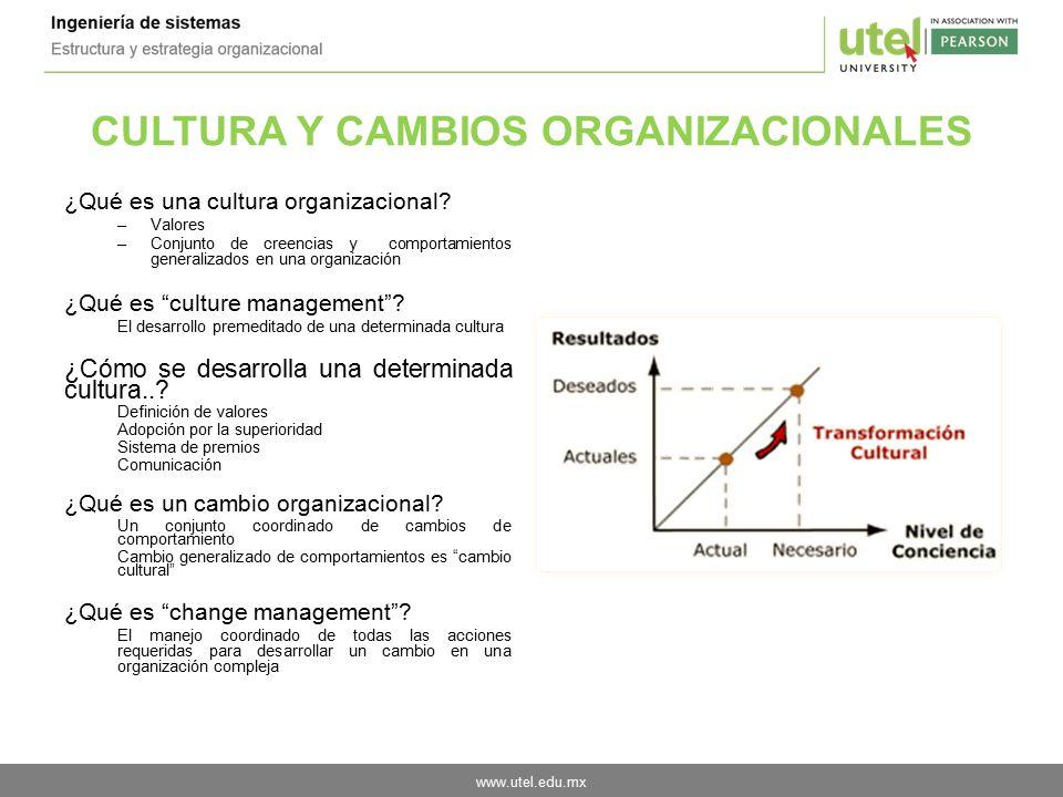 CULTURA Y CAMBIOS ORGANIZACIONALES