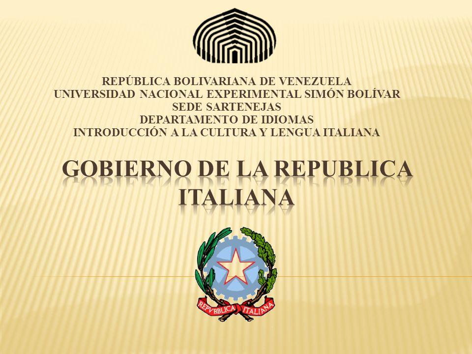 GOBIERNO DE LA REPUBLICA ITALIANA