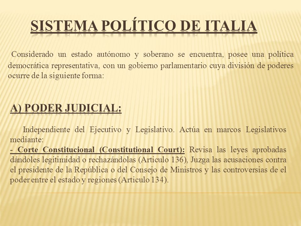 Sistema político de Italia