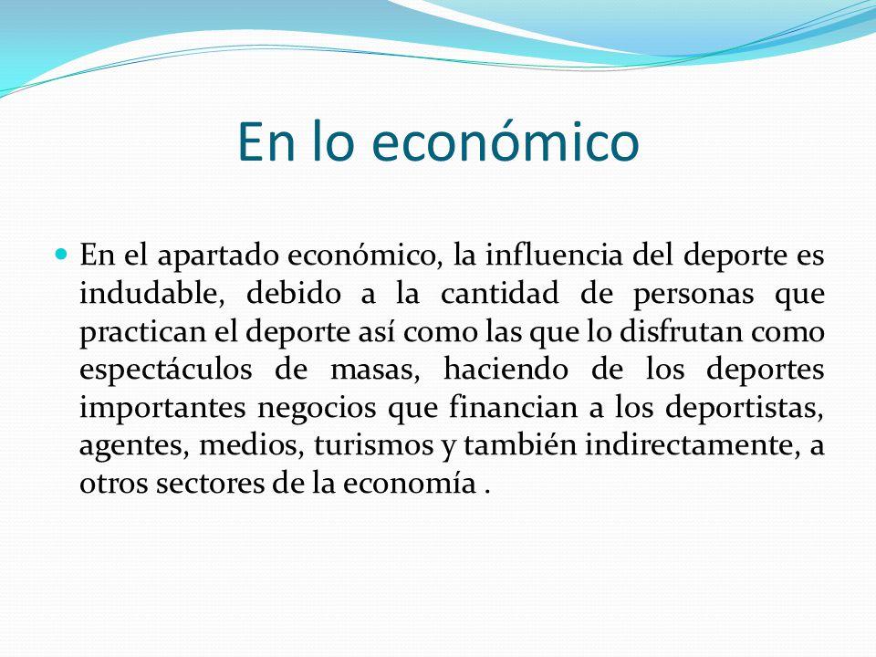 En lo económico