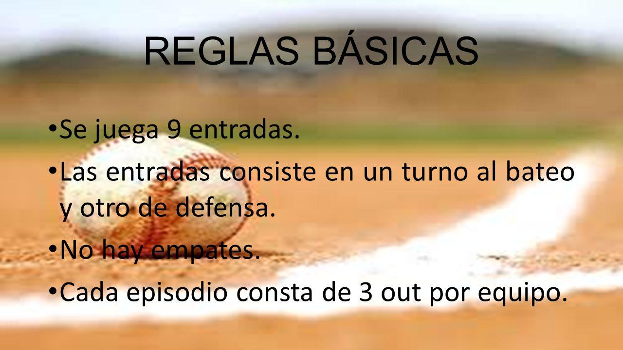 REGLAS BÁSICAS Se juega 9 entradas.