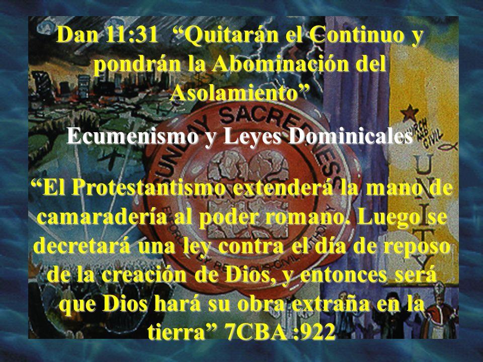 Ecumenismo y Leyes Dominicales