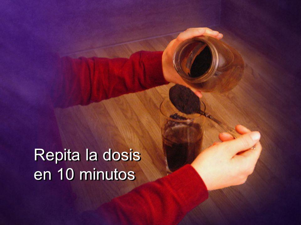 Repita la dosis en 10 minutos