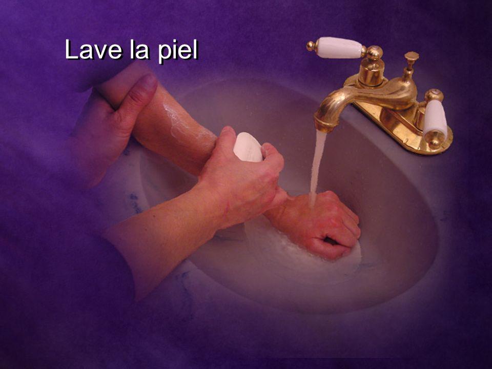 Lave la piel