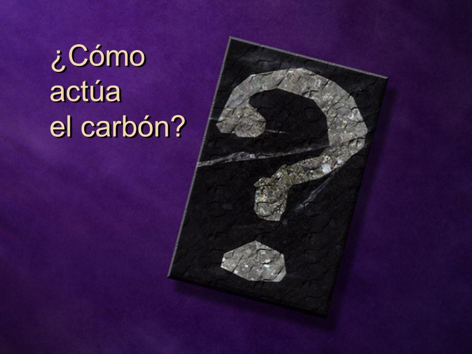 ¿Cómo actúa el carbón