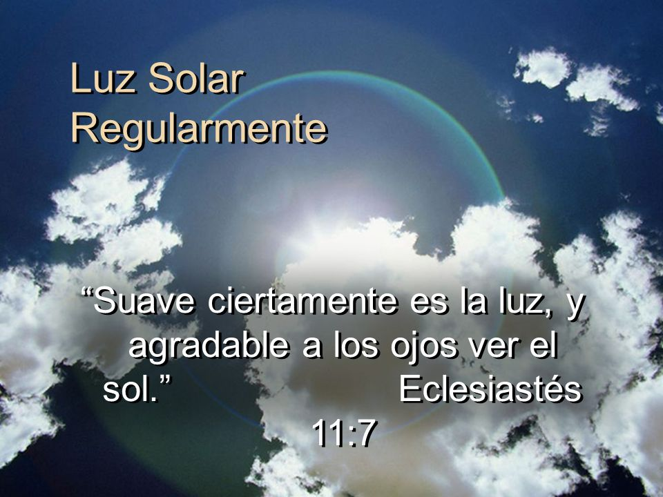 Luz Solar Regularmente