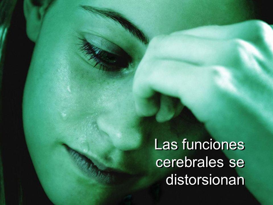 Las funciones cerebrales se distorsionan