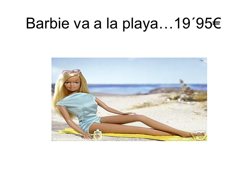 Barbie va a la playa…19´95€