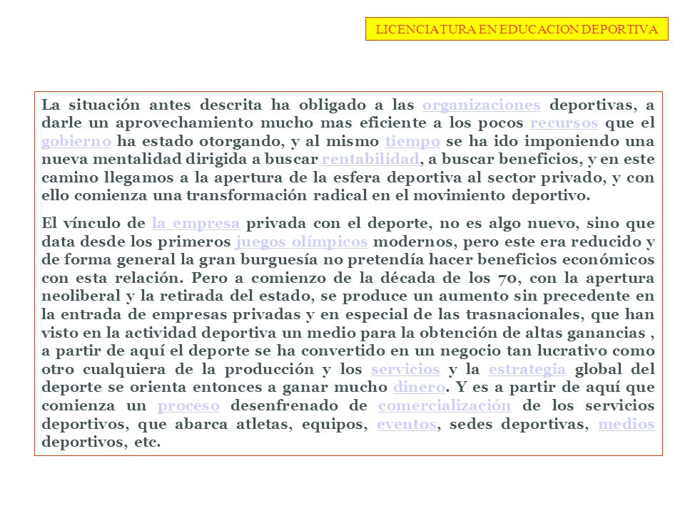 LICENCIATURA EN EDUCACION DEPORTIVA