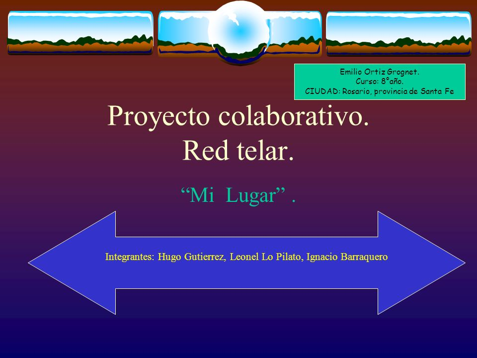 Proyecto colaborativo. Red telar.