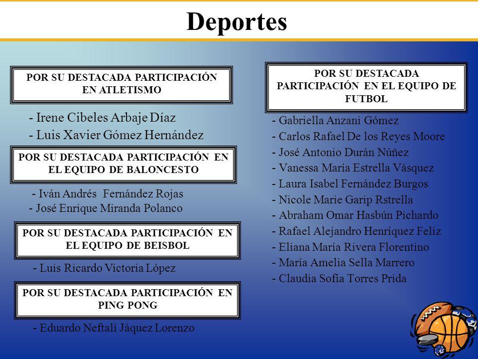 Deportes - Irene Cibeles Arbaje Díaz - Luis Xavier Gómez Hernández