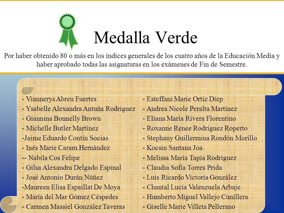Medalla Verde