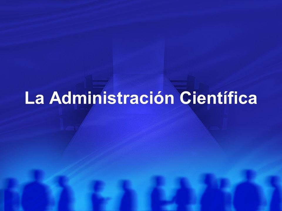 La Administración Científica