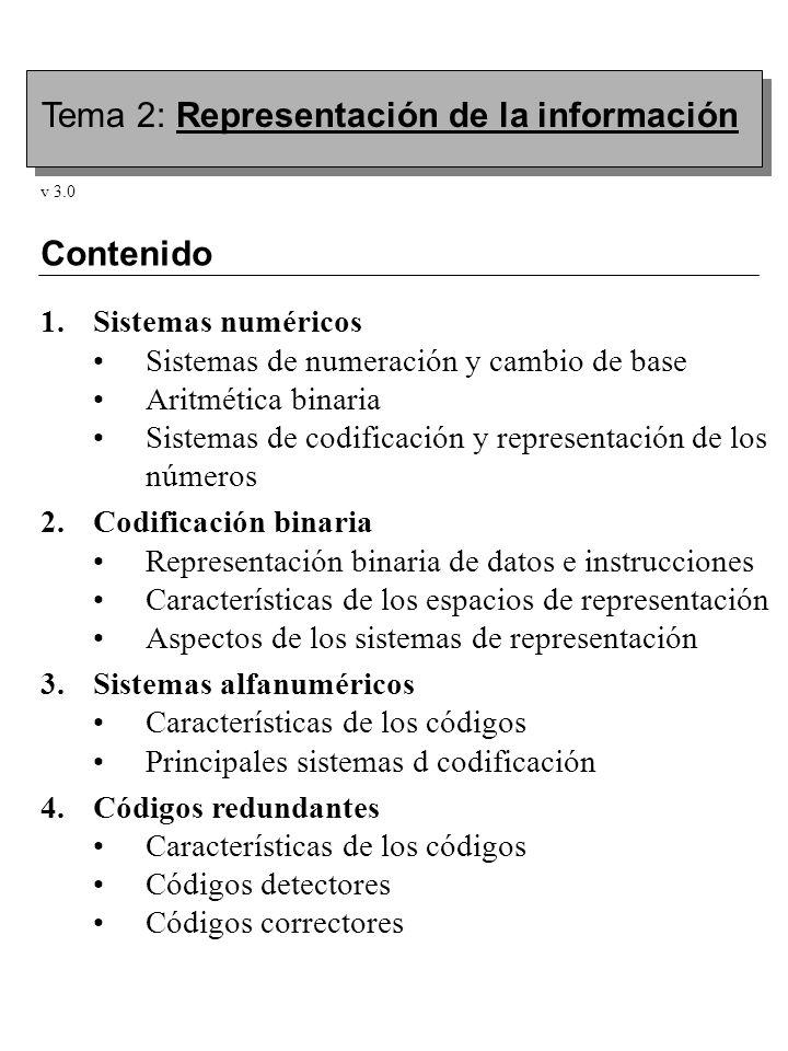 Tema 2: Representación de la información