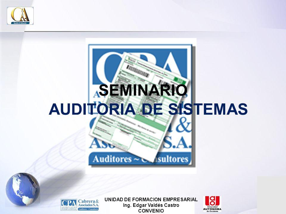 SEMINARIO AUDITORIA DE SISTEMAS