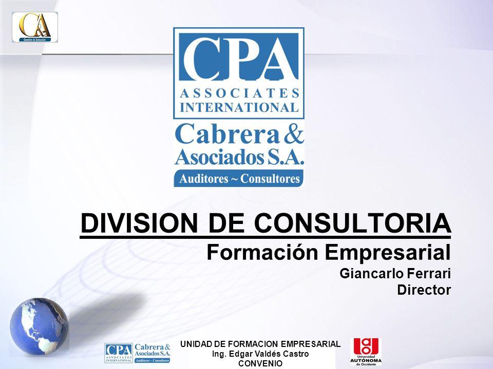UNIDAD DE FORMACION EMPRESARIAL Ing. Edgar Valdés Castro