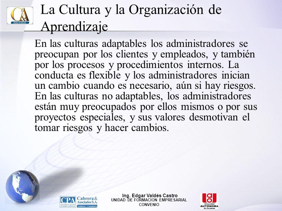La Cultura y la Organización de Aprendizaje