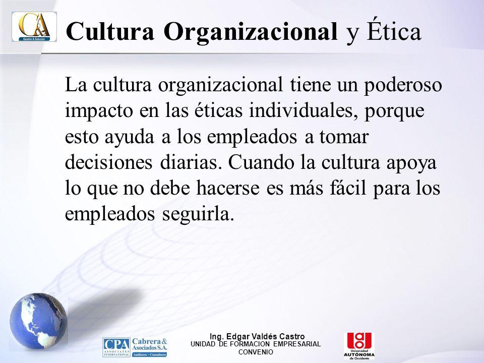 Cultura Organizacional y Ética