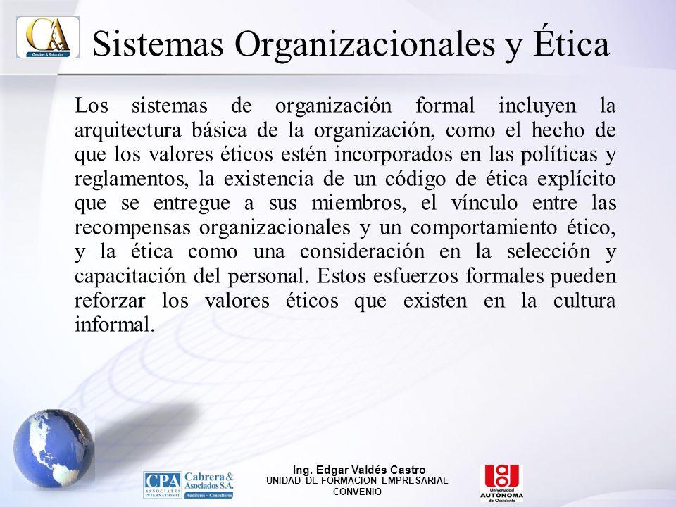Sistemas Organizacionales y Ética