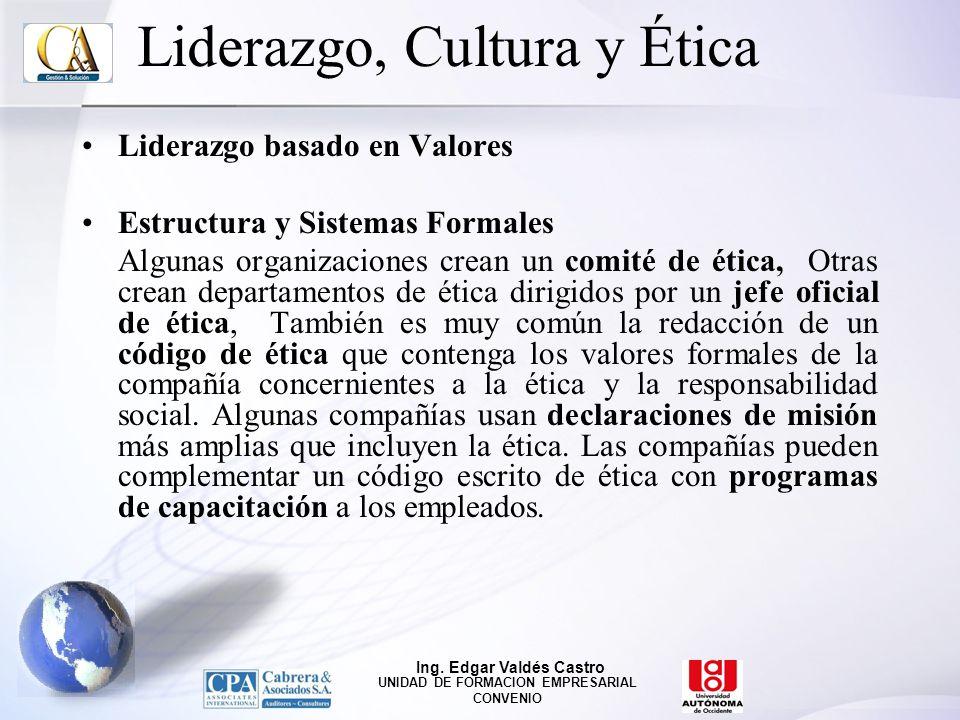 Liderazgo, Cultura y Ética