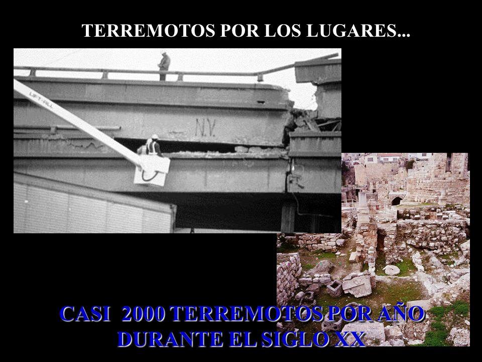 CASI 2000 TERREMOTOS POR AÑO