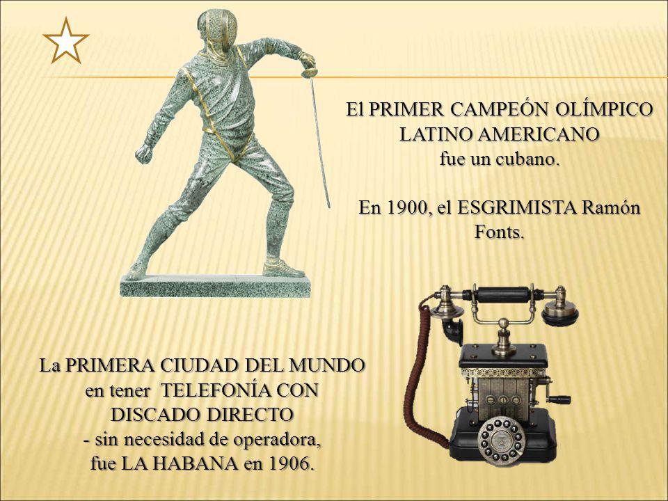 El PRIMER CAMPEÓN OLÍMPICO LATINO AMERICANO fue un cubano.