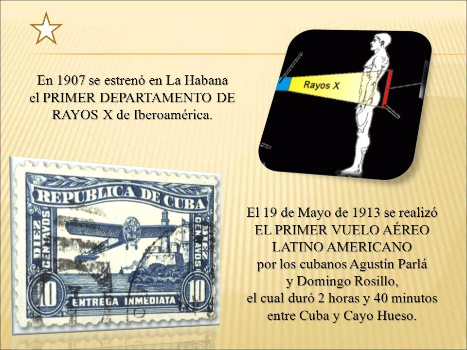 En 1907 se estrenó en La Habana