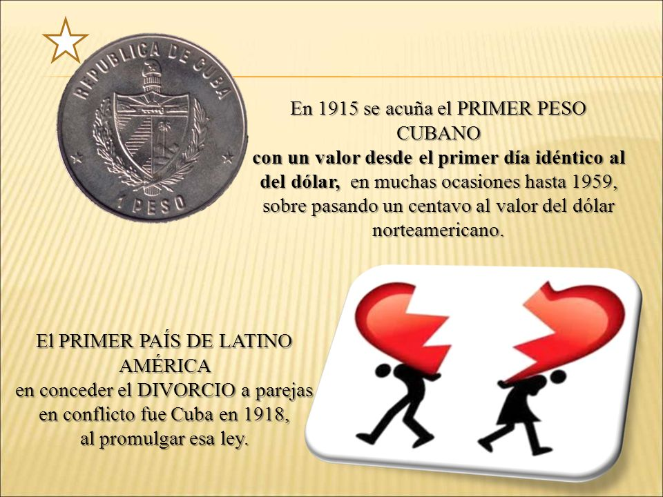 En 1915 se acuña el PRIMER PESO CUBANO