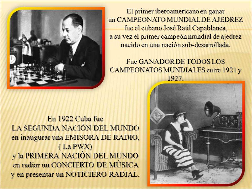 LA SEGUNDA NACIÓN DEL MUNDO en inaugurar una EMISORA DE RADIO,