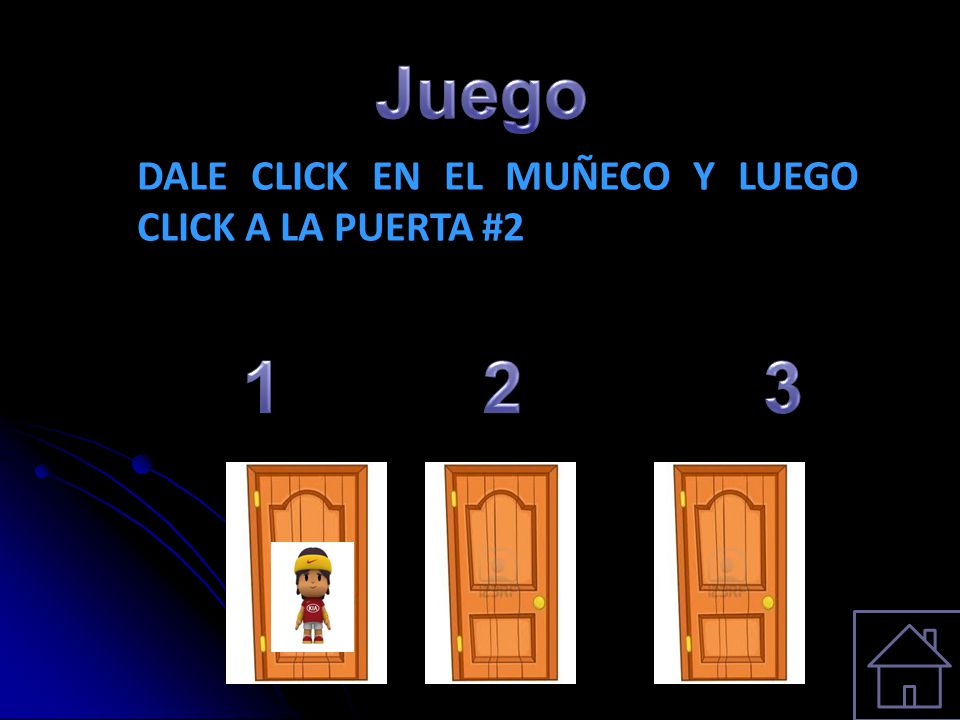 Juego DALE CLICK EN EL MUÑECO Y LUEGO CLICK A LA PUERTA #2 1 2 3