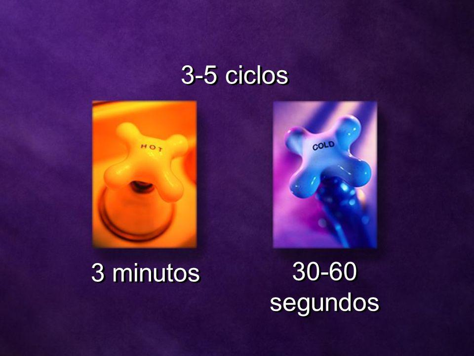 3-5 ciclos 3 minutos 30-60 segundos