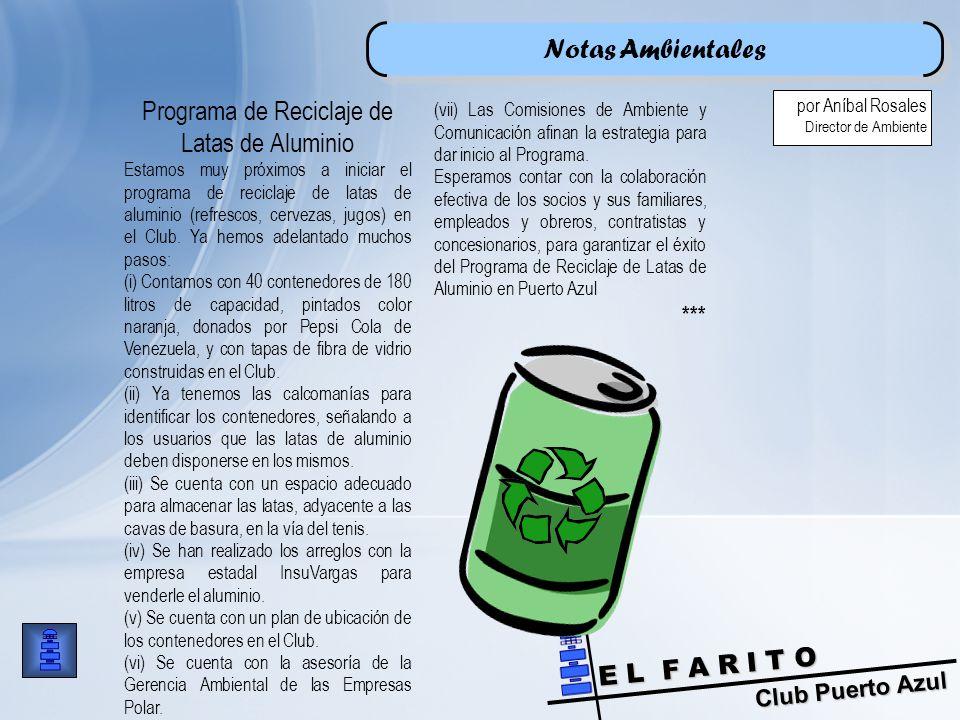 Programa de Reciclaje de Latas de Aluminio