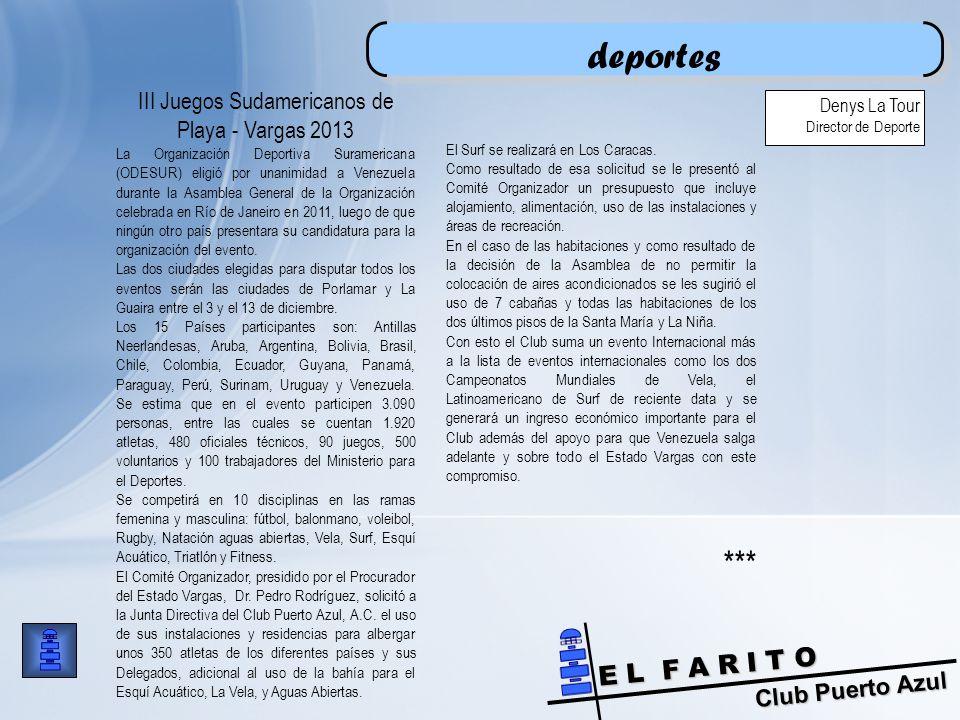 III Juegos Sudamericanos de Playa - Vargas 2013