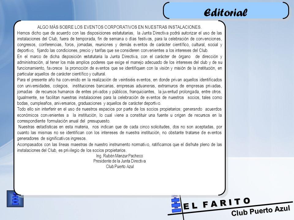 Editorial ALGO MÁS SOBRE LOS EVENTOS CORPORATIVOS EN NUESTRAS INSTALACIONES.