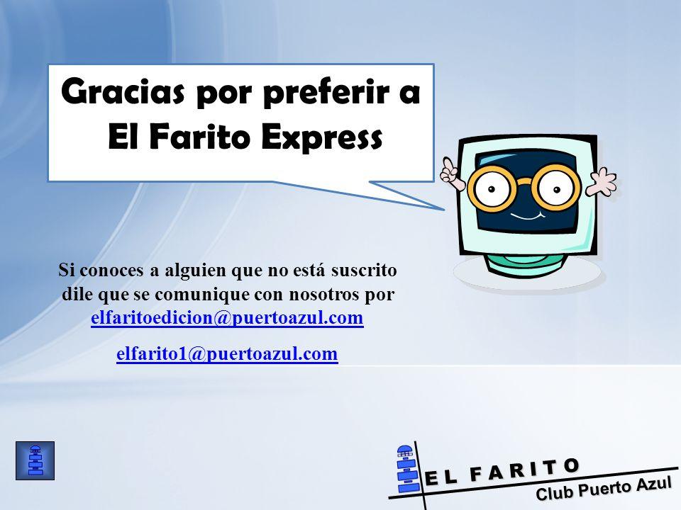 Gracias por preferir a El Farito Express