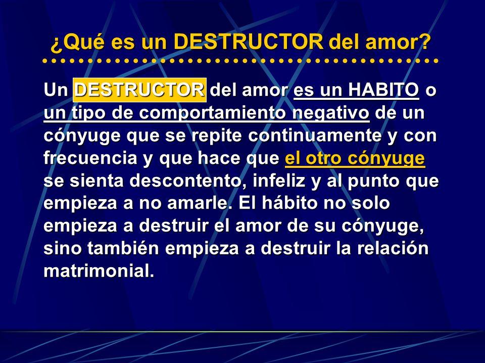 ¿Qué es un DESTRUCTOR del amor