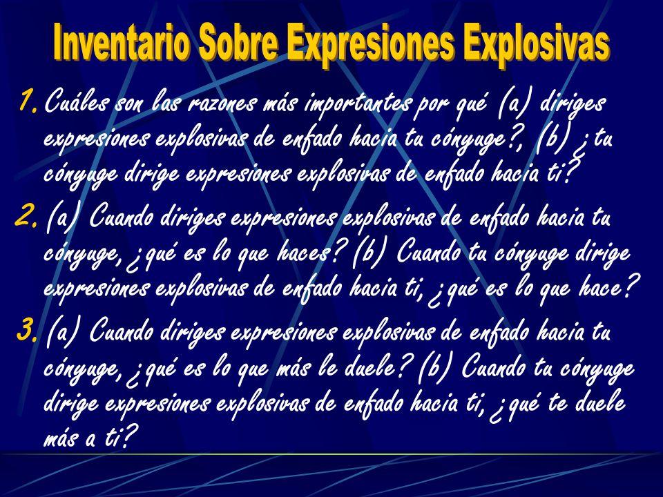 Inventario Sobre Expresiones Explosivas
