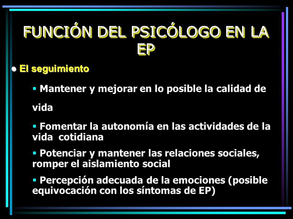 FUNCIÓN DEL PSICÓLOGO EN LA EP