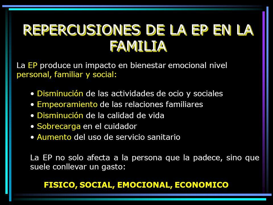 REPERCUSIONES DE LA EP EN LA FAMILIA