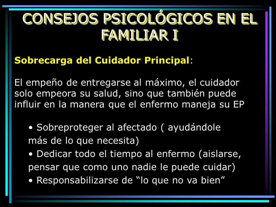 CONSEJOS PSICOLÓGICOS EN EL FAMILIAR I